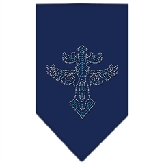 Mirage Pet Products Warriors Cross Rhinestone Bandana Navy Blue large