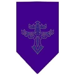 Mirage Pet Products Warriors Cross Rhinestone Bandana Purple Small