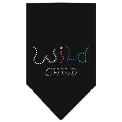 Mirage Pet Products Wild Child Rhinestone Bandana Black Small
