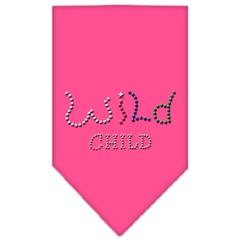 Mirage Pet Products Wild Child Rhinestone Bandana Bright Pink Large
