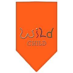 Mirage Pet Products Wild Child Rhinestone Bandana Orange Small