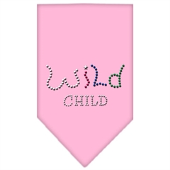 Mirage Pet Products Wild Child Rhinestone Bandana Light Pink Small