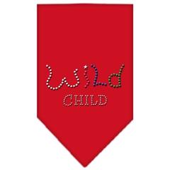 Mirage Pet Products Wild Child Rhinestone Bandana Red Small