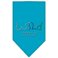 Mirage Pet Products Wild Child Rhinestone Bandana Turquoise Large