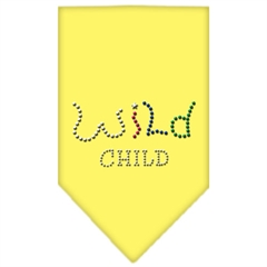 Mirage Pet Products Wild Child Rhinestone Bandana Yellow Large
