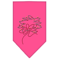 Mirage Pet Products Wreath Rhinestone Bandana Bright Pink Large