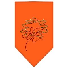 Mirage Pet Products Wreath Rhinestone Bandana Orange Large