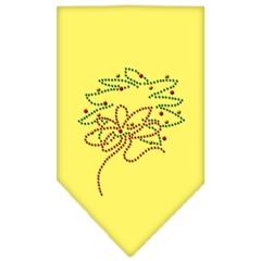 Mirage Pet Products Wreath Rhinestone Bandana Yellow Large