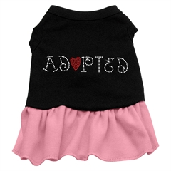 Mirage Pet Products Adopted Dresses Black with Pink XS (8)