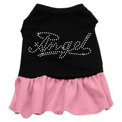 Mirage Pet Products Rhinestone Angel Dress   Black with Pink Lg (14)