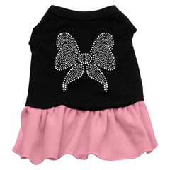 Mirage Pet Products Rhinestone Bow Dresses Black with Pink XXL (18)