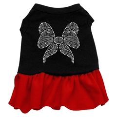 Mirage Pet Products Rhinestone Bow Dresses Black with Red Sm (10)