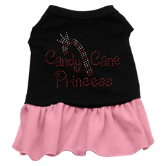 Mirage Pet Products Candy Cane Princess Rhinestone Dress Black with Pink XXL (18)