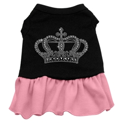 Mirage Pet Products Rhinestone Crown Dress Black with Pink Lg (14)