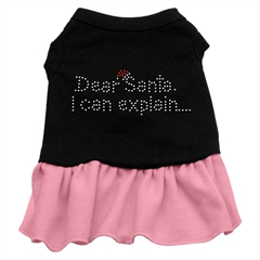 Mirage Pet Products Dear Santa Rhinestone Dress Black with Pink Sm (10)