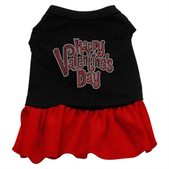 Mirage Pet Products Happy Valentines Day Rhinestone Dress Black with Red Sm (10)