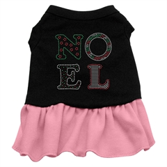 Mirage Pet Products Noel Rhinestone Dress Black with Pink XS (8)