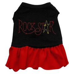Mirage Pet Products Rhinestone Wild Child Dress  Black with Red XS (8)