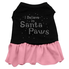 Mirage Pet Products Santa Paws Rhinestone Dress Black with Pink Med (12)