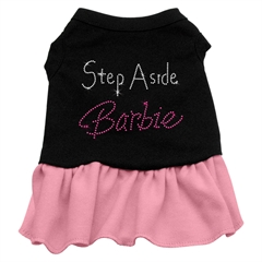Mirage Pet Products Step Aside Barbie Rhinestone Dress Black with Pink XL (16)