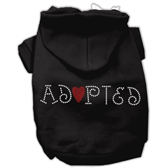 Mirage Pet Products Adopted Hoodie Black XXXL(20)