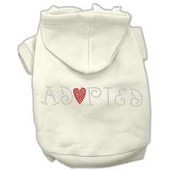 Mirage Pet Products Adopted Hoodie Cream XS (8)