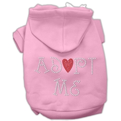 Mirage Pet Products Adopt Me Rhinestone Hoodie Pink S (10)