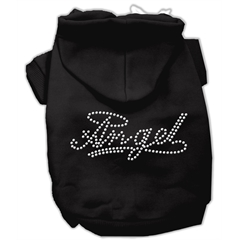 Mirage Pet Products Angel Rhinestud Hoodie Black M (12)