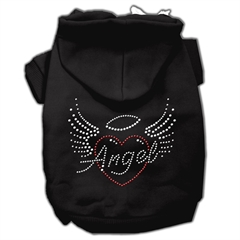 Mirage Pet Products Angel Heart Rhinestone Hoodies Black L (14)