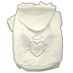 Mirage Pet Products Angel Heart Rhinestone Hoodies Cream M (12)