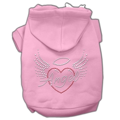 Mirage Pet Products Angel Heart Rhinestone Hoodies Pink S (10)