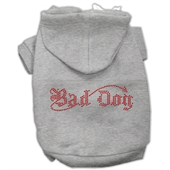 Mirage Pet Products Bad Dog Rhinestone Hoodies Grey XS (8)