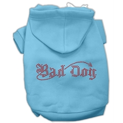 Mirage Pet Products Bad Dog Rhinestone Hoodies Baby Blue M (12)