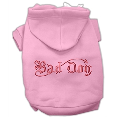 Mirage Pet Products Bad Dog Rhinestone Hoodies Pink L (14)