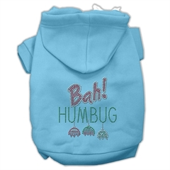 Mirage Pet Products Bah Humbug Rhinestone Hoodies Baby Blue XS (8)