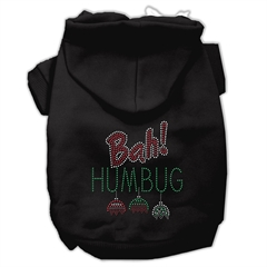 Mirage Pet Products Bah Humbug Rhinestone Hoodies Black M (12)