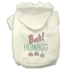 Mirage Pet Products Bah Humbug Rhinestone Hoodies Cream L (14)