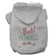 Mirage Pet Products Bah Humbug Rhinestone Hoodies Grey XS (8)