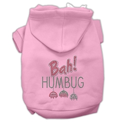 Mirage Pet Products Bah Humbug Rhinestone Hoodies Pink XL (16)