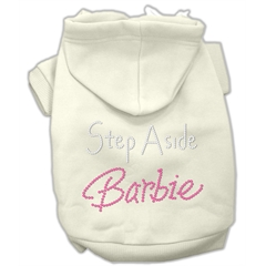 Mirage Pet Products Step Aside Barbie Hoodies Cream XS (8)
