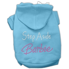 Mirage Pet Products Step Aside Barbie Hoodies Baby Blue XS (8)