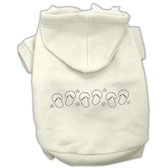 Mirage Pet Products Beach Sandals Rhinestone Hoodies Cream XS (8)