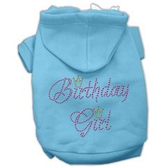 Mirage Pet Products Birthday Girl Hoodies Baby Blue XL (16)