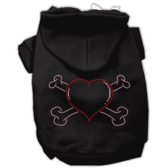 Mirage Pet Products Heart and Crossbones Hoodies Black M (12)