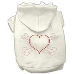 Mirage Pet Products Heart and Crossbones Hoodies Cream S (10)