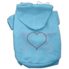 Mirage Pet Products Heart and Crossbones Hoodies Baby Blue M (12)