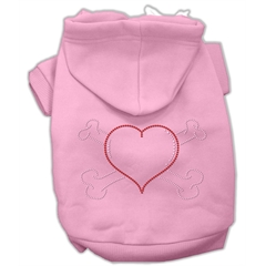 Mirage Pet Products Heart and Crossbones Hoodies Pink XS (8)