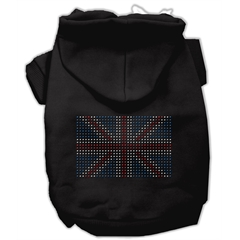 Mirage Pet Products British Flag Hoodies Black L (14)