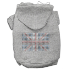 Mirage Pet Products British Flag Hoodies Grey S (10)