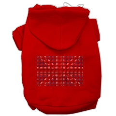 Mirage Pet Products British Flag Hoodies Red XXL (18)